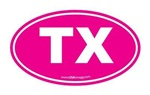 Texas TX Euro Oval PINK