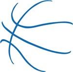 Basketball Ball Lines Blue