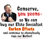 Conserve, you peons!