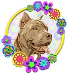 Hippie Pitbull Dog Love