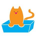 Kitty box in kitty litter