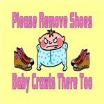 Remove Shoes Baby Crawling