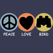 Peace Love Bird