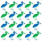Spoonbill Pop Art Pattern
