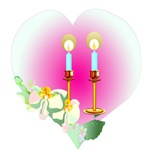 Pink Heart and Candles