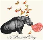 A Beautiful Day with Hippopotamus
