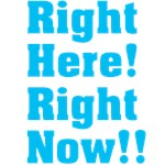 Right Here! Right Now!!: Blue