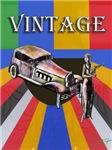 Vintage design poster car model