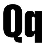 Q Helvetica Alphabet