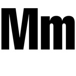 M Helvetica Alphabet
