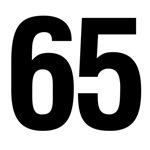 Number 65 Helvetica