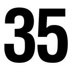 Number 35 Helvetica