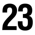 Number 23 Helvetica