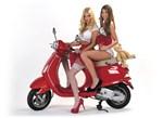 Calendar Kittens Jessica & Kelsey on Scooter