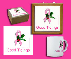 Breast Cancer Logo to fund Cure - Christmas Design