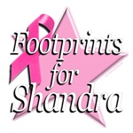 Footprints for Shandra Breast Cancer Shop