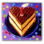 Birthday Cake with Confetti