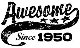 Awesome Since 1950 t-shirt