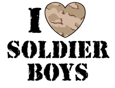 I Love Soldier Boys t-shirts