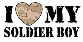 I Love My Soldier Boy t-shirts