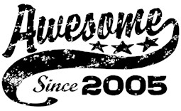 Awesome Since 2005 t-shirt