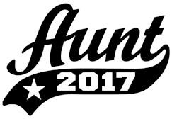 Aunt 2017 t-shirt