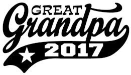 Great Grandpa 2017 t-shirt