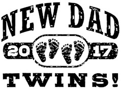 New Dad Twins 2017 t-shirts
