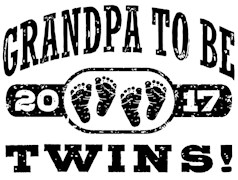 Grandpa To Be Twins 2017 t-shirts