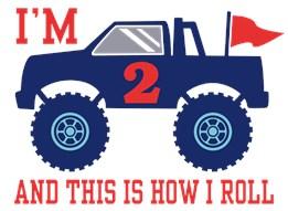 2nd Birthday Monster Truck t-shirt