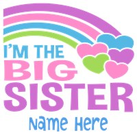 I'm The Big Sister Personalized t-shirt