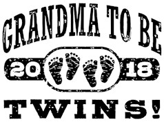 Grandma To Be Twins 2018 t-shirts
