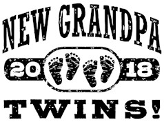 New Grandpa Twins 2018 t-shirts
