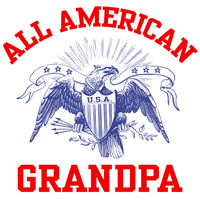 All American Grandpa t-shirt