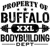 Property of Buffalo Bodybuilding t-shirts