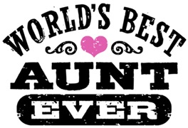 World's Best Aunt Ever t-shirts
