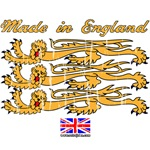 Made in England with Lions Rampant