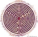 Magenta 10-Circuit Labyrinth