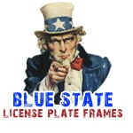 Blue State Pride License Plate Frames