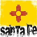 Santa Fe Grunge Flag