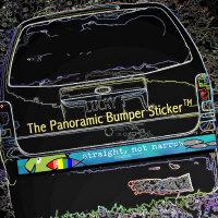 Straight Not Narrow Panoramic Bumper Sticker (TM)