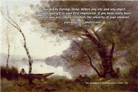 Corot Boatman Painting Impressionist Quote