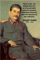 Soviet Leader Joseph Stalin Individual, Collective