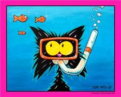 Snorkling Scuba Cat