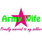 Army Wife Pink Star
