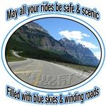 Blue skies & winding roads
