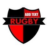 Rugby Shield Black Red