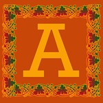 Autumn Leaves Fall Colors Monogram Tote