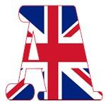 Union Jack Monogram Letter Tote Bags A-Z