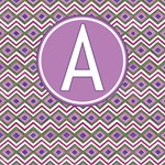 A to Z Aztec Pattern Monogrammed Tote